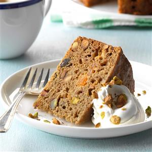 Pressure Cooker Mixed Fruit and Pistachio Cake Recipe