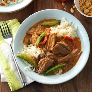Pressure Cooker Thai Coconut Beef Recipe