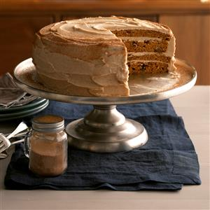 Pumpkin Cake with Whipped Cinnamon Frosting Recipe
