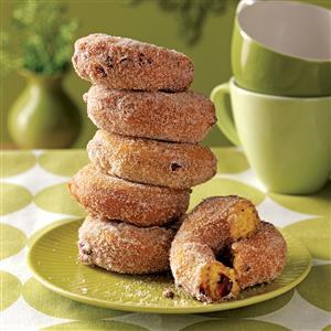 Pumpkin-Cranberry Cake Doughnuts Recipe