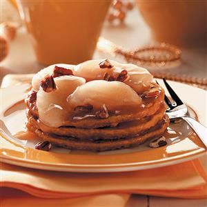 Pumpkin Pancakes with Apple Cider Compote Recipe