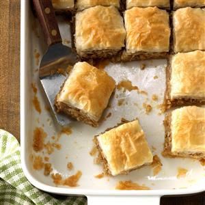 Quick and Easy Baklava Squares Recipe