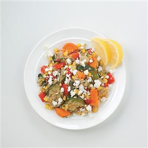 Quinoa with Roasted Veggies and Feta Recipe