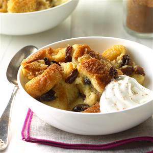 Raisin Date Bread Pudding Recipe