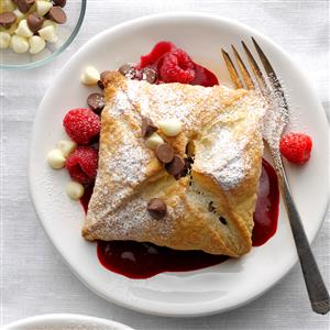 Raspberry Chocolate Puffs Recipe