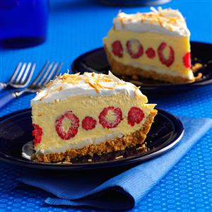 Raspberry Coconut Cream Pie Recipe