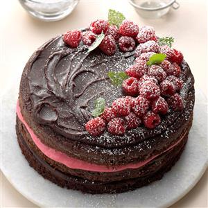 Raspberry Fudge Torte Recipe