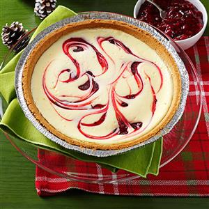 Raspberry Swirled Cheesecake Pie Recipe