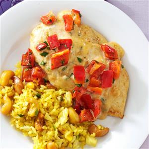 Red Pepper-Curry Chicken Recipe