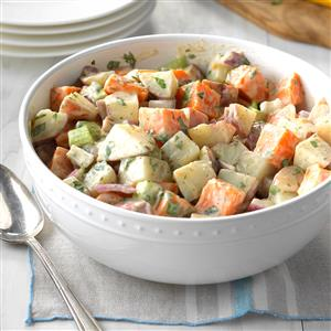 Red and Sweet Potato Salad Recipe