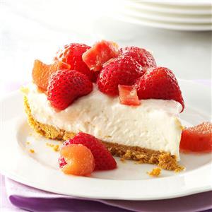 Rhubarb Berry Cheesecake Pie Recipe