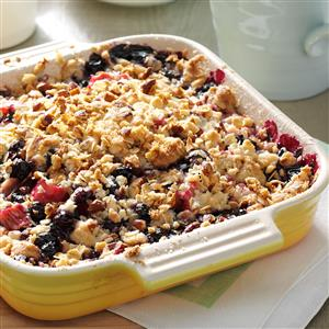 Rhubarb-Blueberry Crumble Recipe