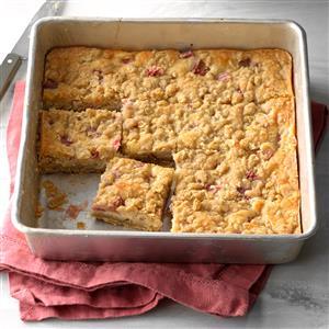 Rhubarb Cheesecake Squares Recipe