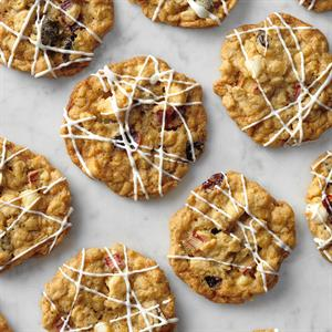 Rhubarb Cranberry Cookies Recipe