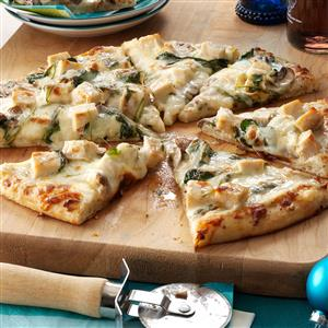 Rich Chicken Alfredo Pizza Recipe