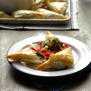 Ricotta Sausage Triangles Recipe