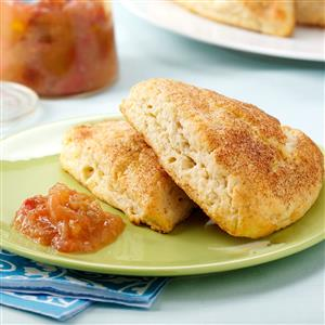 Ricotta Scones with Rhubarb-Orange Compote