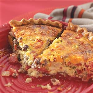 Roadside Diner Cheeseburger Quiche Recipe
