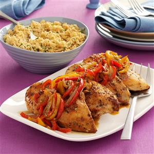 Roast Chicken Breasts with Peppers Recipe