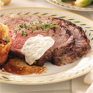Roasted Garlic & Herb Prime Rib