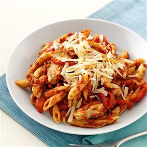 Roasted Pepper Chicken Penne Recipe
