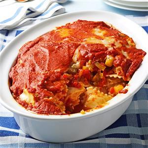 Roasted Pepper Ravioli Bake Recipe