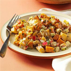 Roasted Sweet and Gold Potato Salad Recipe