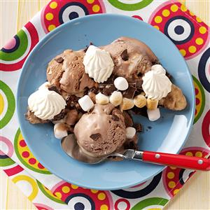 Rocky Road Grilled Banana Splits