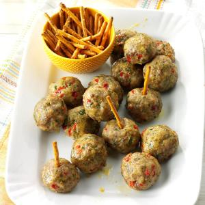 Air Fryer Rosemary Sausage Meatballs Recipe