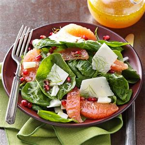 Ruby Red Spinach Salads Recipe