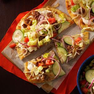 Salad-Topped Flatbread Pizzas Recipe