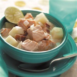 Salmon Chowder with Bacon Recipe