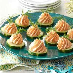 Salmon Mousse Canapes Recipe