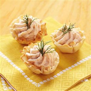 Salmon Mousse Tartlets Recipe