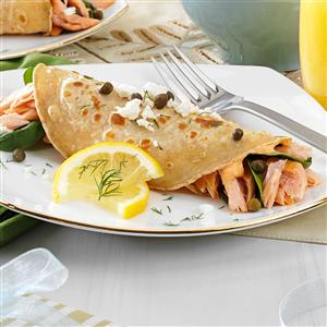 Salmon and Goat Cheese Crepes Recipe