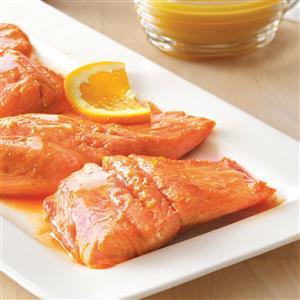 Salmon with Balsamic Orange Sauce Recipe