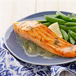 Salmon with Lemon-Dill Butter Recipe