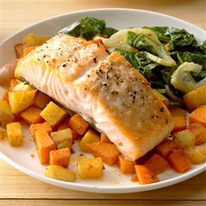 Salmon with Root Vegetables Recipe