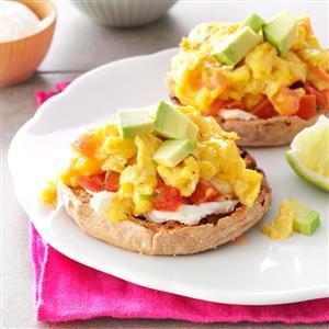 Salsa & Scrambled Egg Sandwiches Recipe
