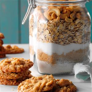 Salted Cashew Oatmeal Cookies Recipe