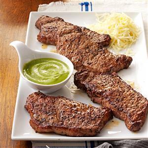 Santa Fe Strip Steaks Recipe