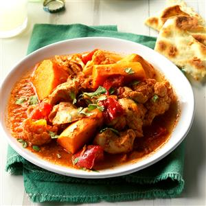 Saucy Indian-Style Chicken & Vegetables Recipe