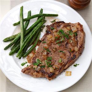 Saucy Skillet Steaks Recipe