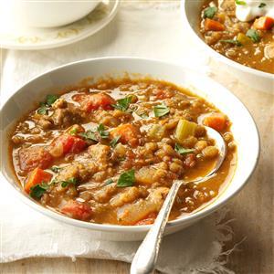 Sausage & Lentil Soup Recipe
