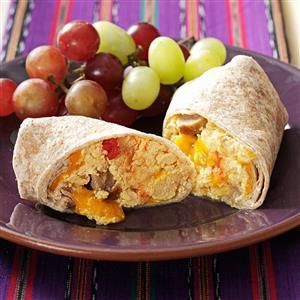 Sausage & Salsa Breakfast Burritos Recipe