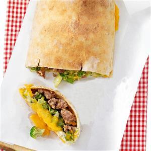 Sausage Broccoli Calzone Recipe