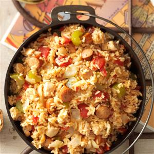Sausage chicken jambalaya recipe taste of home sausage chicken jambalaya recipe forumfinder Images