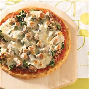 Sausage Spinach Pizza Recipe