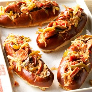 Sausage and Kraut Buns Recipe