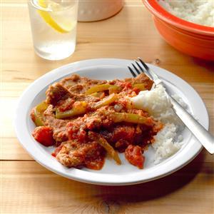 Tomato and Pepper Sirloin Steak Recipe